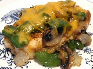 smothered grilled chicken