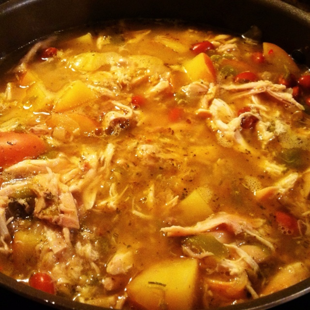 green chili chicken stew